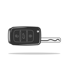 auto key icon car keys symbol flat design vector image