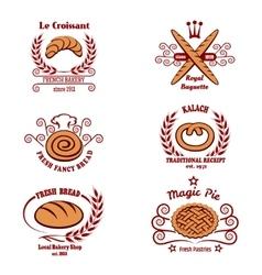 Bakery bread logos vector