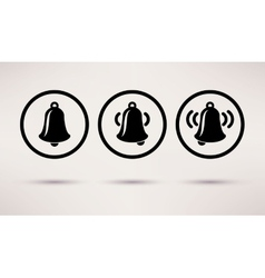 Bells ringing icons set in a flat style vector image