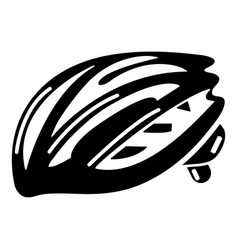 bike helmet protection icon simple black style vector image