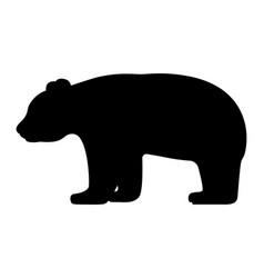 black silhouette panda vector image