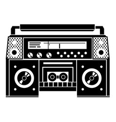 Boombox icon simple style vector