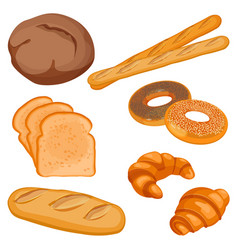 Brown tommy sliced bread long loaf vector