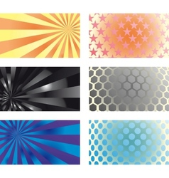 Business card set 01 vector image