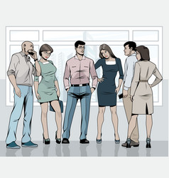 Business people in the office vector