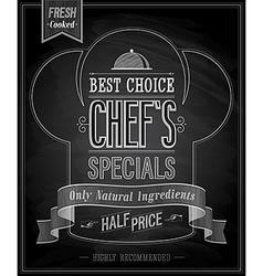 Chefs special vector