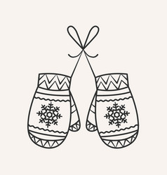 christmas mittens vector image