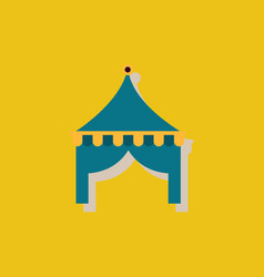 Circus tent in sticker style vector