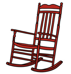 Classic red rocking chair vector