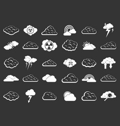 cloud icon set grey vector image