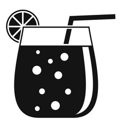 Cocktail glass icon simple style vector