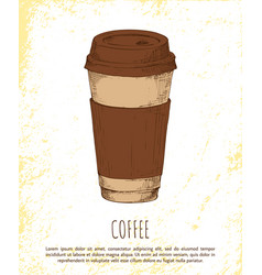 coffee cup isolated on bright background banner vector image