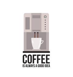 coffee machine on white background vector image