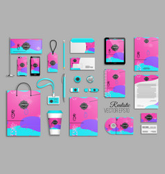 corporate identity template set for business vector image
