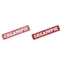 Creampie red rounded rough rectangular watermark vector
