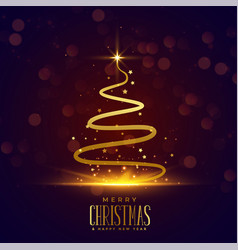 creative christmas tree design in line style vector image