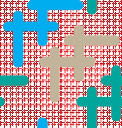 Cross pattern vector