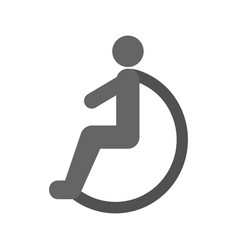 Disabled person vector