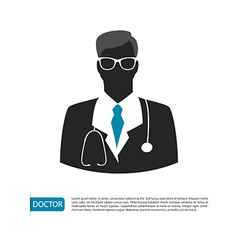 Doctor character man image vector image