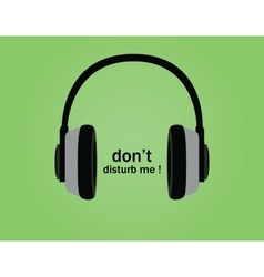 Dont disturb symbol poster with vector