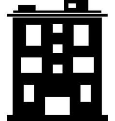 Element silhouette single house vector