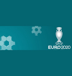 european football cup 2020 balls with victory cup vector image