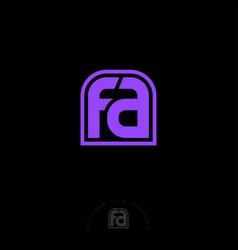 F a letter monogram web violet vector