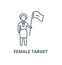 female target line icon linear concept vector image