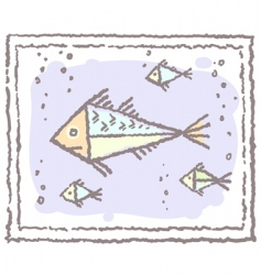 fishes in frame vector image