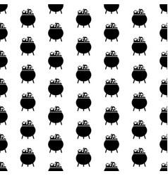 flat cartoon halloween seamless pattern vector image