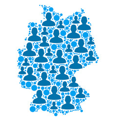 germany map population people vector image