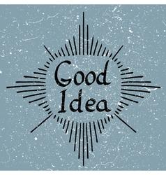 Good Idea text vector