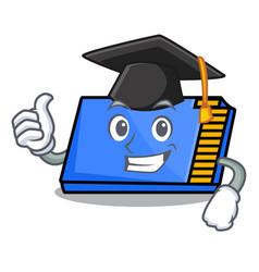 Graduation memory card character cartoon vector