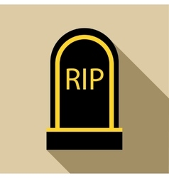 Grave RIP icon flat style vector