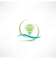 Green diamond icon vector