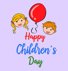 Happy childrens day cute style background vector