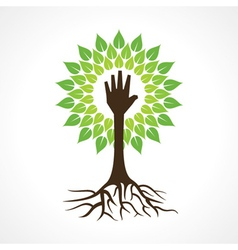Helping hand make tree vector image