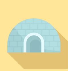 igloo icon flat style vector image