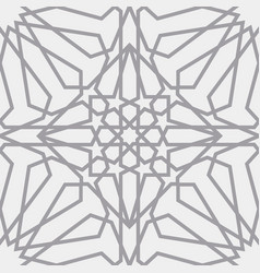 islamic pattern seamless arabic geometric vector image