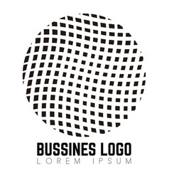 isolated business logo vector image