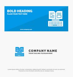 Key keyboard book facebook solid icon website vector