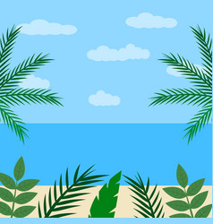 Landscape in cartoon flat style fantastic seaside vector