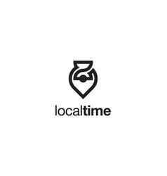local time logo design concept vector image