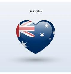 Love Australia symbol Heart flag icon vector image