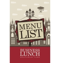 Menu for business lunches vector