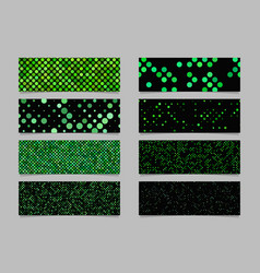 Modern abstract green dot pattern banner vector