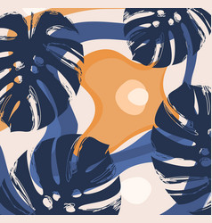 Modern minimalist abstract leaves vector