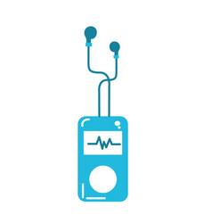 Mp3 player with rhythm cardiac and headphones vector