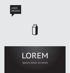 Of cook symbol on lactose icon vector