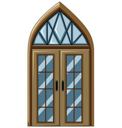 Old fashioned style of glass window vector